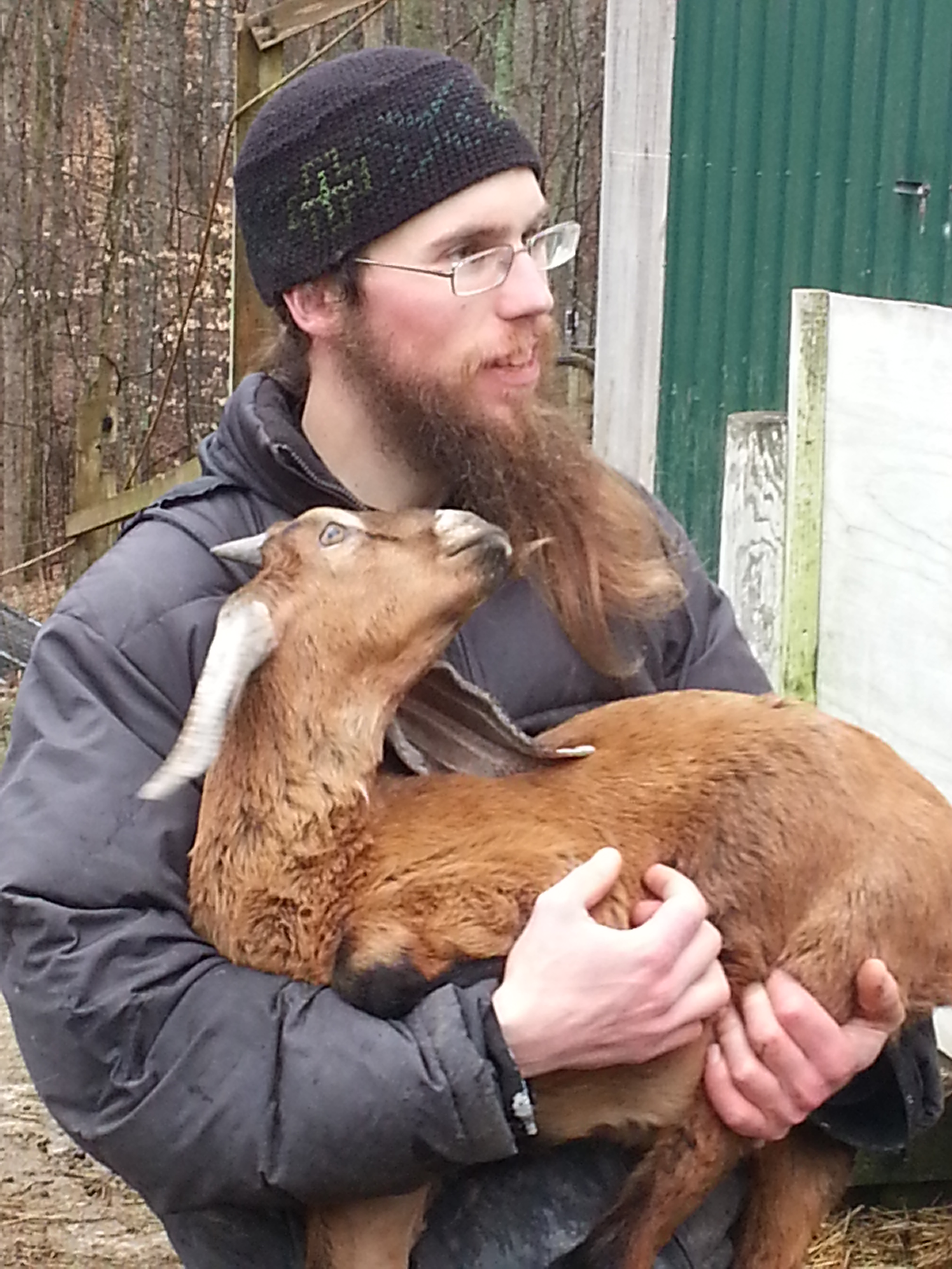 Monk Michael (formerly of All Saints church) and Goat
