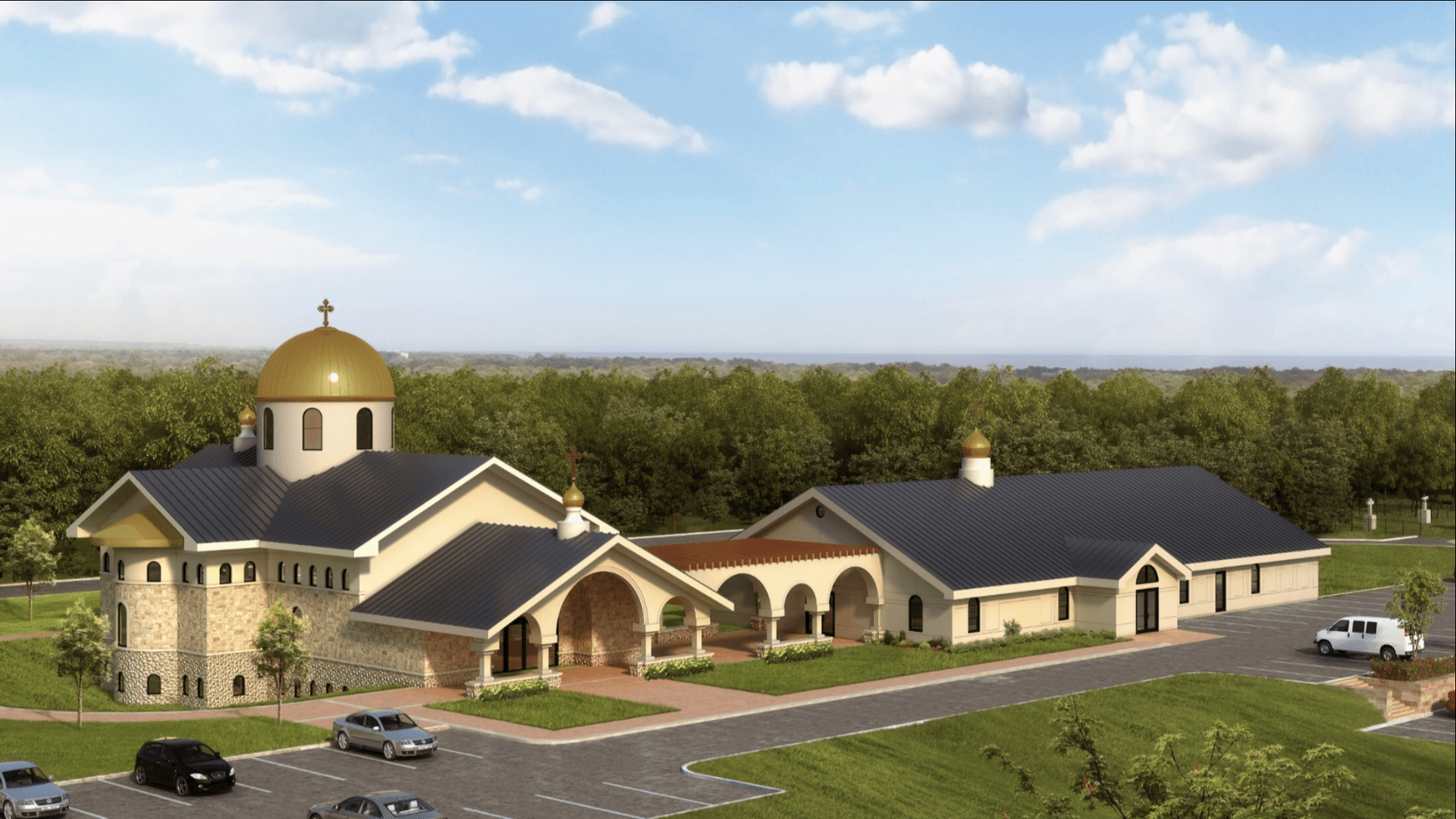 All Saints Orthodox Church Concept Rendering